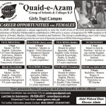 Quaid e Azam Group Of Schools And Colleges KP Jobs 2017
