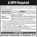 Sarhad University of Science And IT Islamabad 2017