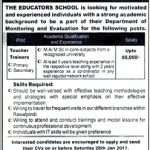 The Educators Rawalpindi Teaching Jobs 2017
