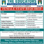 The Educators Khazana Campus Jobs 2017