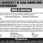 The University Of Azad Jammu And Kashmir Jobs 2017