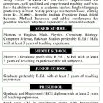 Army Public School COD Karachi Jobs 2017