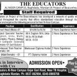 The Educators School Jobs Mardan 2017