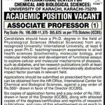 University Of Karachi Academic Position
