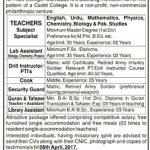 Ali Trust College Islamabad Jobs 2017
