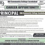 IBA Community College Jacobabad Jobs 2017