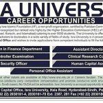 ISRA University Jobs 2017