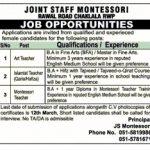 Joint Staff Montessori Islamabad Jobs