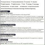 Leads University Lahore Jobs 2017