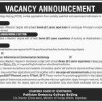 Pakistan Embassy College Beijing Jobs 2017
