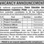 Peace Education And Development Foundation Jobs