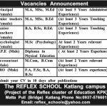 The Reflex School KPK Jobs 2017
