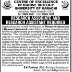 Researcher Required At University Of Karachi 2017