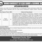 Women University Of Azad Jammu And Kashmir Jobs 2017