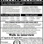 Adabishtan E Soophia School Lahore Jobs 2017