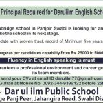 Principal Jobs at DPS Dar Ul Ilm Public School Village Panj peer Swabi District