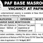 PAF Base Masroor Jobs 2017