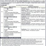 Shaheed Benazir Bhutto University Jobs 2017