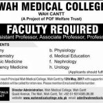 Wah Medical College Jobs 2017