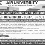 Air University Islamabad Jobs 2017