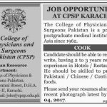 College Of Physicians And Sergeons Karachi Pakistan Jobs 2017