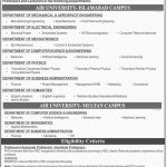 Lectures Jobs At Air University Islamabad 2017