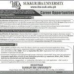 Sukkur IBA University Jobs 2017