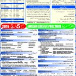 AIOU Admission Advertisement Spring 2019