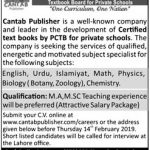 Teaching Jobs at Cantab Publisher 2019